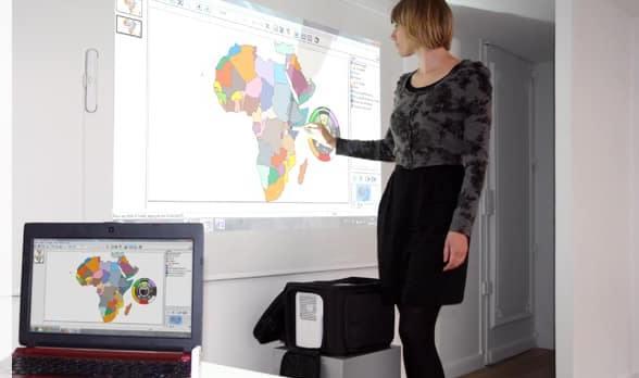 tableau blanc et videoprojecteur interactif