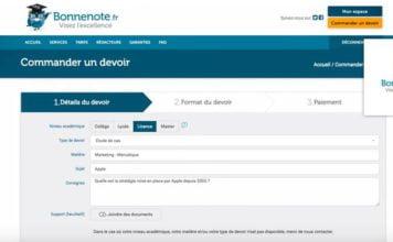 aide au devoir avec la start-up bonnenote.fr