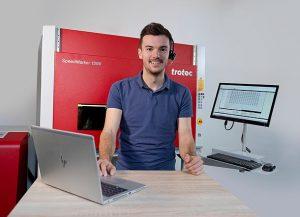 La société Trotec est spécialisée dans les machines découpe et gravure laser